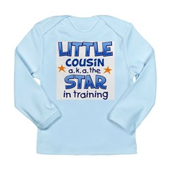 Little Cousin - Star (Blue) Long Sleeve Infant T-S