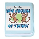 Big Cousin of Twins (Monkey) baby blanket