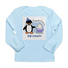 Big Cousin to be (Penguin) Long Sleeve Infant T-Sh