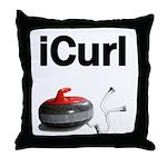 iCurl Throw Pillow
