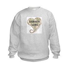 Daddy's girl camo soldier heart Sweatshirt