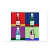 Pop Art Ketchup Postcards (Package of 8)