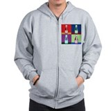 Pop Art Ketchup Zip Hoody