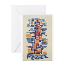 Multi-Color Peace By: Werner Drewes Greeting Card