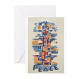 Multi-Color Peace By: Werner Drewes Greeting Cards