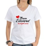 Edward TwiMom Women's V-Neck T-Shirt
