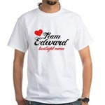 Edward TwiMom White T-Shirt