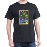 &quot;Yggdrasil, The World Tree&quot; Black T-Shirt
