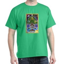 """Yggdrasil, The World Tree"" Black T-Shirt"