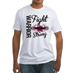Fight Strong Myeloma Warrior Fitted T-Shirt
