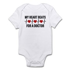 My Heart Beats For A Doctor Infant Bodysuit