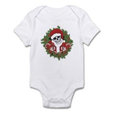 Santa Skull with Wreath Infant Bodysuit