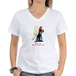 Christmas Angel Women's V-Neck T-Shirt