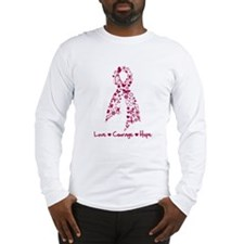 Love Courage Myeloma Long Sleeve T-Shirt