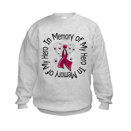 Myeloma In Memory Hero Kids Sweatshirt