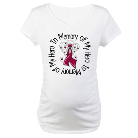 Myeloma In Memory Hero Maternity T-Shirt