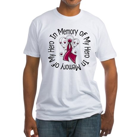 Myeloma In Memory Hero Fitted T-Shirt