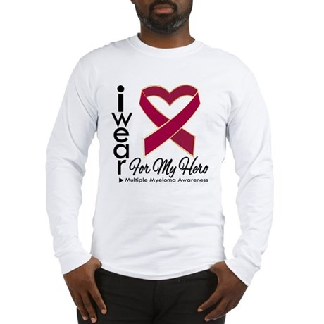 I Wear Ribbon Hero Myeloma Long Sleeve T-Shirt