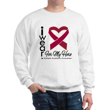 I Wear Ribbon Hero Myeloma Sweatshirt