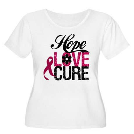 Hope Love Cure Myeloma Women's Plus Size Scoop Nec