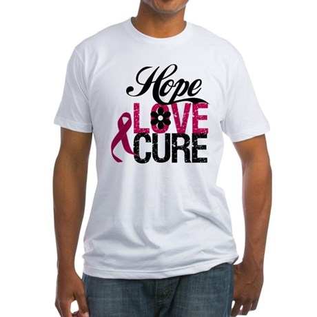 Hope Love Cure Myeloma Fitted T-Shirt