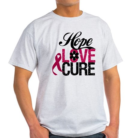 Hope Love Cure Myeloma Light T-Shirt
