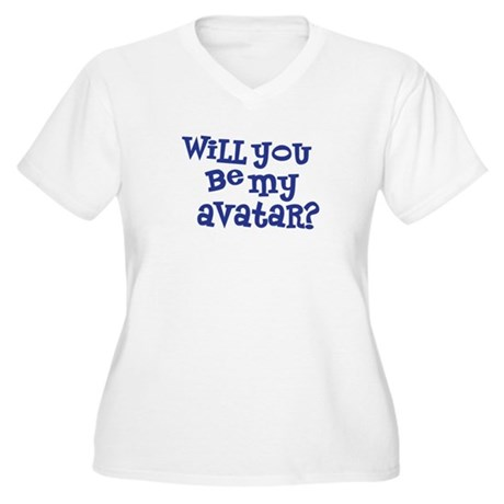 Will you be my avatar? Women's Plus Size V-Neck T-