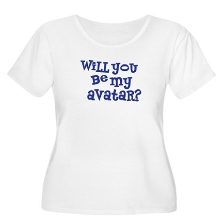 Will you be my avatar? Women's Plus Size Scoop Nec