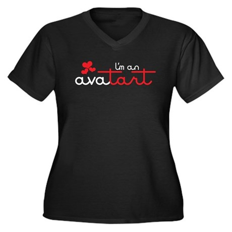 I'm an avatart Women's Plus Size V-Neck Dark T-Shi