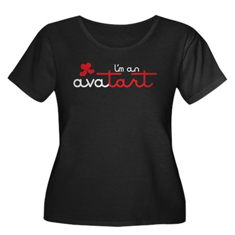 I'm an avatart Women's Plus Size Scoop Neck Dark T