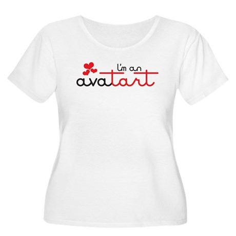 I'm an avatart Women's Plus Size Scoop Neck T-Shir
