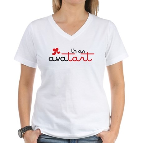 I'm an avatart Women's V-Neck T-Shirt