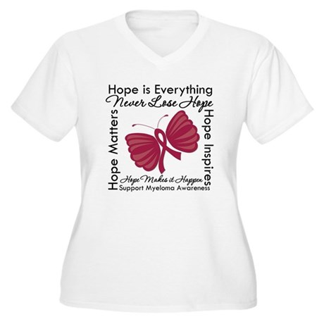Hope is Everything Myeloma Women's Plus Size V-Nec
