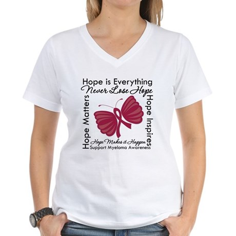 Hope is Everything Myeloma Women's V-Neck T-Shirt