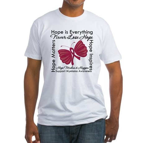 Hope is Everything Myeloma Fitted T-Shirt