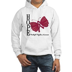 Hope Butterfly - Myeloma Hooded Sweatshirt