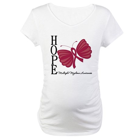 Hope Butterfly - Myeloma Maternity T-Shirt