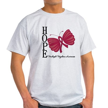 Hope Butterfly - Myeloma Light T-Shirt