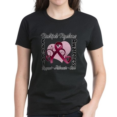 Multiple Myeloma Ribbon Women's Dark T-Shirt