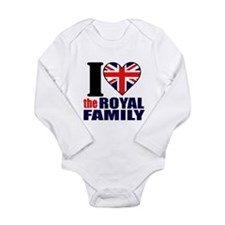 British Royal Family Long Sleeve Infant Bodysuit