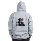 I Love the Royal Family Zip Hoodie