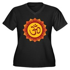 Hindu Aum Symbol Women's Plus Size V-Neck Dark T-S