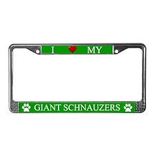 Green I Love My Giant Schnauzers Frame