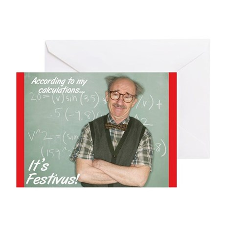 """Festivus Calculations"" Cards (Pk of 10)"