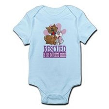 Rescued Is My Favorite Breed Infant Bodysuit