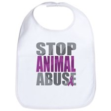 Stop Animal Abuse(Paw) Bib