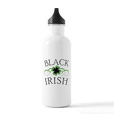 Black Irish with Fancy Shamrock Water Bottle