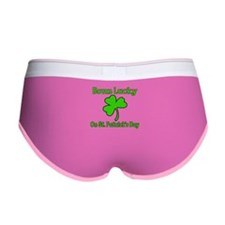 Born Lucky on St Patricks Day Women's Boy Brief