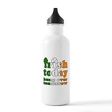 Irish Today Hung Over Tomorrow Water Bottle
