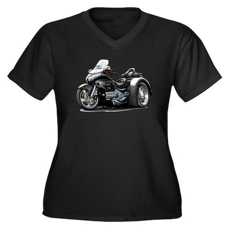 Goldwing Black Trike Women's Plus Size V-Neck Dark